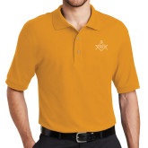 Gold Easycare Pique Polo-Square and Compass with G