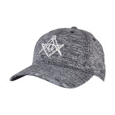 PosiCharge Black/White Electric Heather Snapback Hat-Square and Compass with G