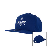 New Era Royal Diamond Era 9Fifty Snapback Hat-Square and Compass with G