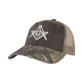 Realtree Edge Brown Mesh Back Structured Hat-Square and Compass with G