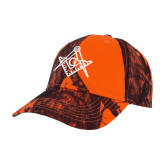 Mossy Oak Orange Blaze Structured Hat-Square and Compass with G