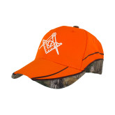 Realtree Xtra Orange Blaze Structured Hat-Square and Compass with G