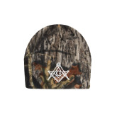 Mossy Oak Camo Fleece Beanie-Square and Compass with G