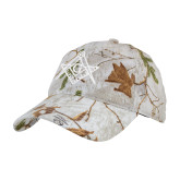 Realtree Xtra Snow Unstructured Hat-Square and Compass with G