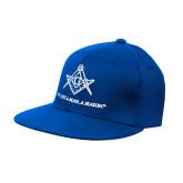 Navy OttoFlex Flat Bill Pro Style Hat-Not Just A Man A Mason