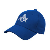 Royal Heavyweight Twill Pro Style Hat-Square and Compass with G