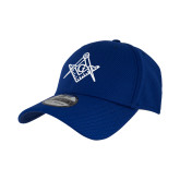 New Era Royal Diamond Era 39Thirty Stretch Fit Hat-Square and Compass with G