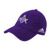 Adidas Purple Slouch Unstructured Low Profile Hat-Square and Compass with G