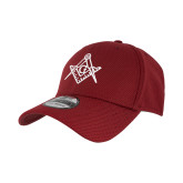 New Era Cardinal Diamond Era 39Thirty Stretch Fit Hat-Square and Compass with G