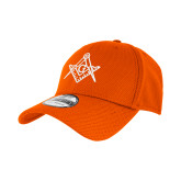 New Era Orange Diamond Era 39Thirty Stretch Fit Hat-Square and Compass with G