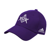 Adidas Purple Structured Adjustable Hat-Square and Compass with G