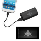 LIGHT UP LOGO Power Bank-Square and Compass with G Engraved