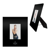 Black Metal 5 x 7 Photo Frame-Square and Compass with G Engraved