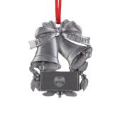 Pewter Holiday Bells Ornament-Freemasons Engraved