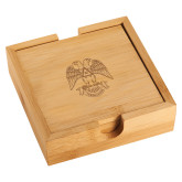 Bamboo Coaster Set-Freemasons Engraved