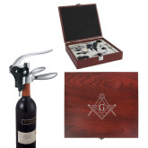 Executive Wine Collectors Set-Square and Compass with G Engraved