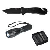 Swiss Force Knife/Flashlight Set-Freemasons Engraved