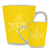Full Color Latte Mug 12oz-Square and Compass with G