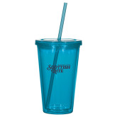 Madison Double Wall Turquoise Tumbler w/Straw 16oz-Scottish Rite