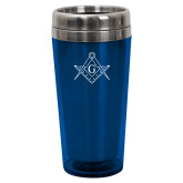 Solano Acrylic Blue Tumbler 16oz-Square and Compass with G