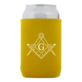 Neoprene Gold Can Holder-Square and Compass with G