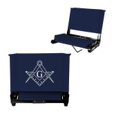 Stadium Chair Navy-Square and Compass with G
