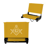 Stadium Chair Gold-Square and Compass with G