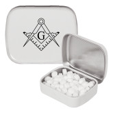 White Rectangular Peppermint Tin-Square and Compass with G