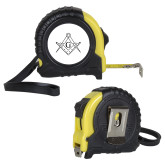 Journeyman Locking 10 Ft. Yellow Tape Measure-Square and Compass with G