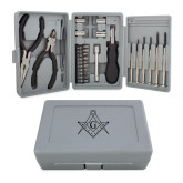 Compact 26 Piece Deluxe Tool Kit-Square and Compass with G