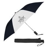42 Inch Slim Stick Black/White Vented Umbrella-Square and Compass with G