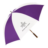 64 Inch Purple/White Umbrella-Not Just A Man A Mason