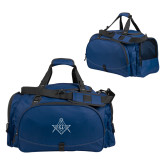 Challenger Team Navy Sport Bag-Square and Compass with G