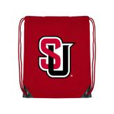 Red Drawstring Backpack-Tertiary Mark