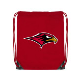 Red Drawstring Backpack-RedHawk Head