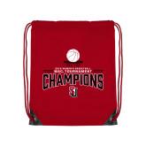 Red Drawstring Backpack-2018 WAC Champions