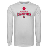 White Long Sleeve T Shirt-2018 WAC Champions