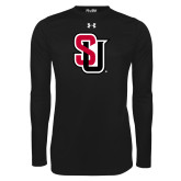 Under Armour Black Long Sleeve Tech Tee-Tertiary Mark