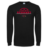 Black Long Sleeve TShirt-Soccer Ball Design