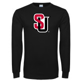 Black Long Sleeve TShirt-Tertiary Mark