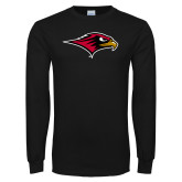 Black Long Sleeve TShirt-RedHawk Head