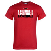 Red T Shirt-Basketball Triple Stacked