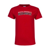 Youth Red T Shirt-SU RedHawks Arched