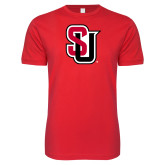 Next Level SoftStyle Red T Shirt-Tertiary Mark