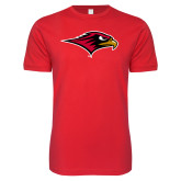 Next Level SoftStyle Red T Shirt-RedHawk Head