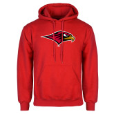 Red Fleece Hoodie-RedHawk Head