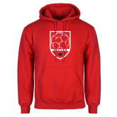 Red Fleece Hoodie-Soccer Shield Design