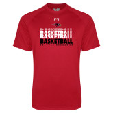 Under Armour Red Tech Tee-Basketball Triple Stacked