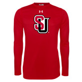 Under Armour Red Long Sleeve Tech Tee-Tertiary Mark