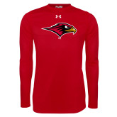 Under Armour Red Long Sleeve Tech Tee-RedHawk Head